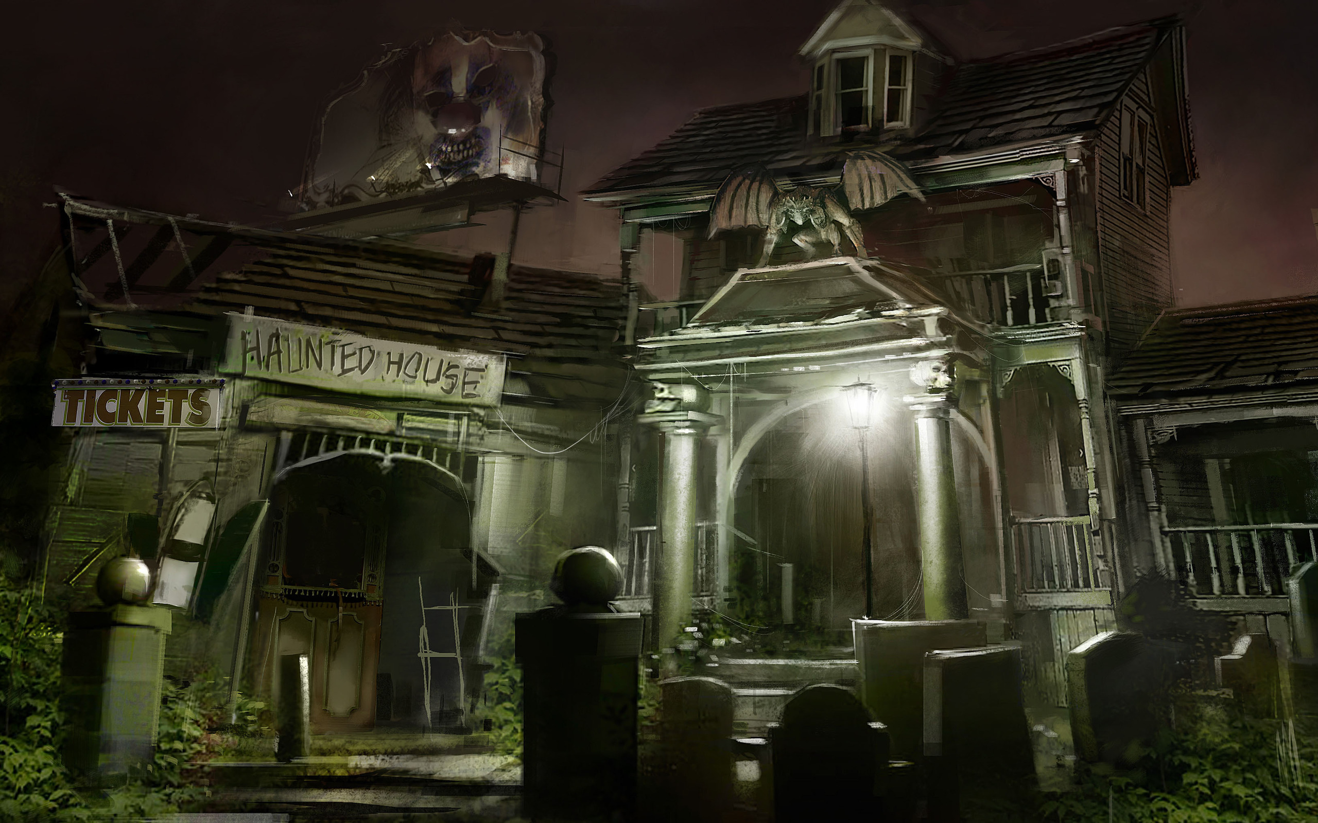 Haunted house wallpaper wallpapers