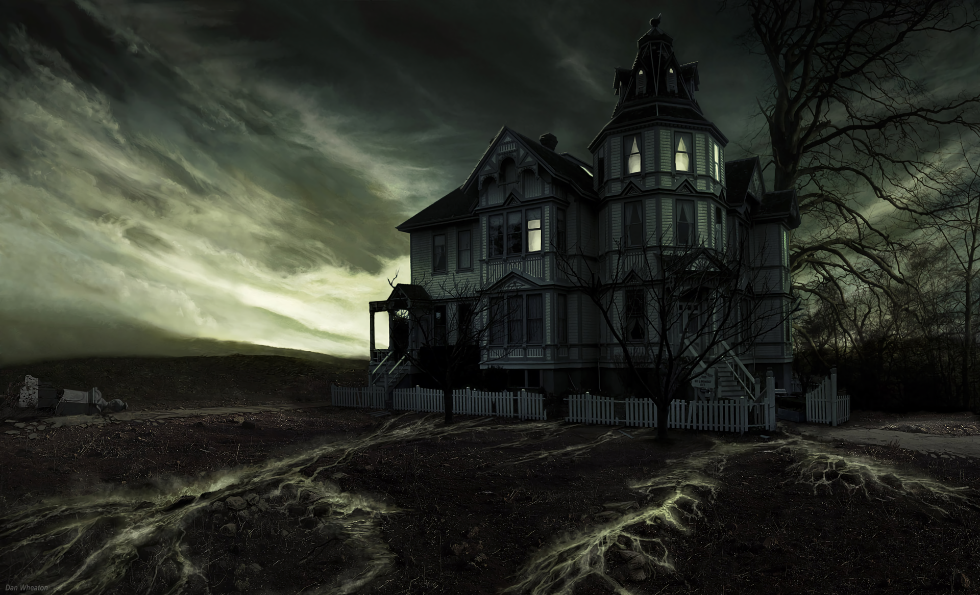 Haunted houses backgrounds