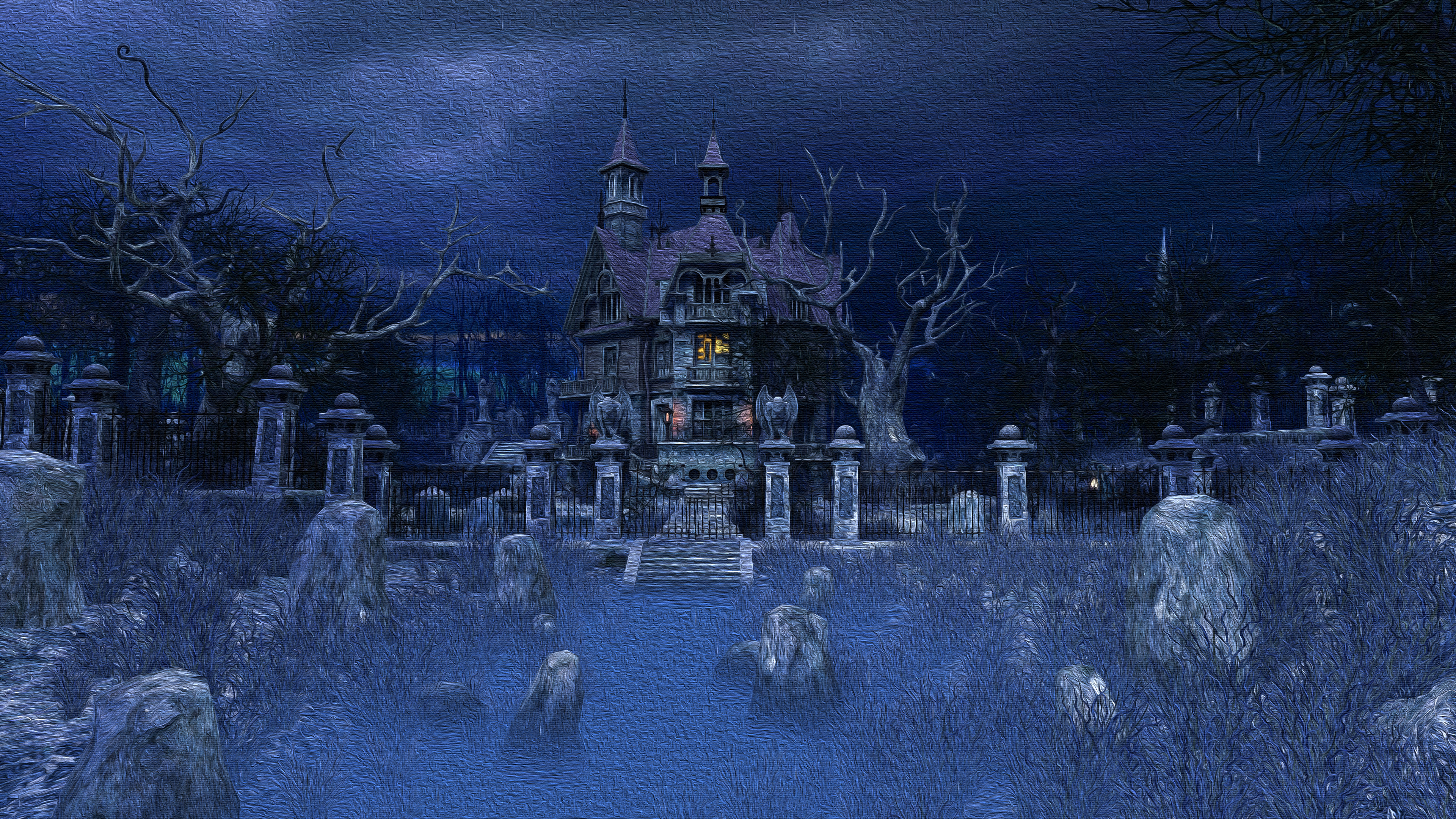A picture of a haunted house
