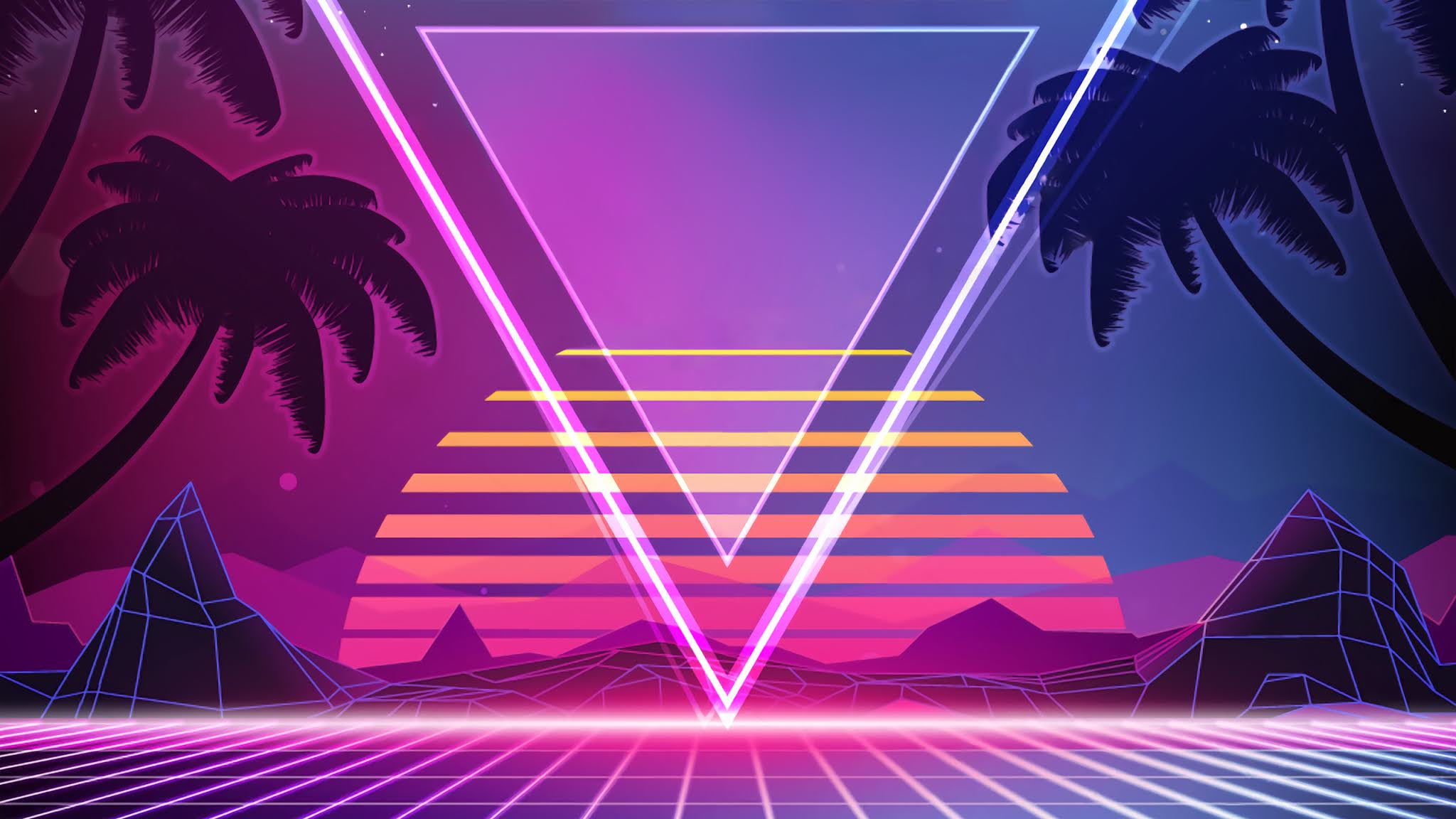 synthwave wallpaper 2560x1440