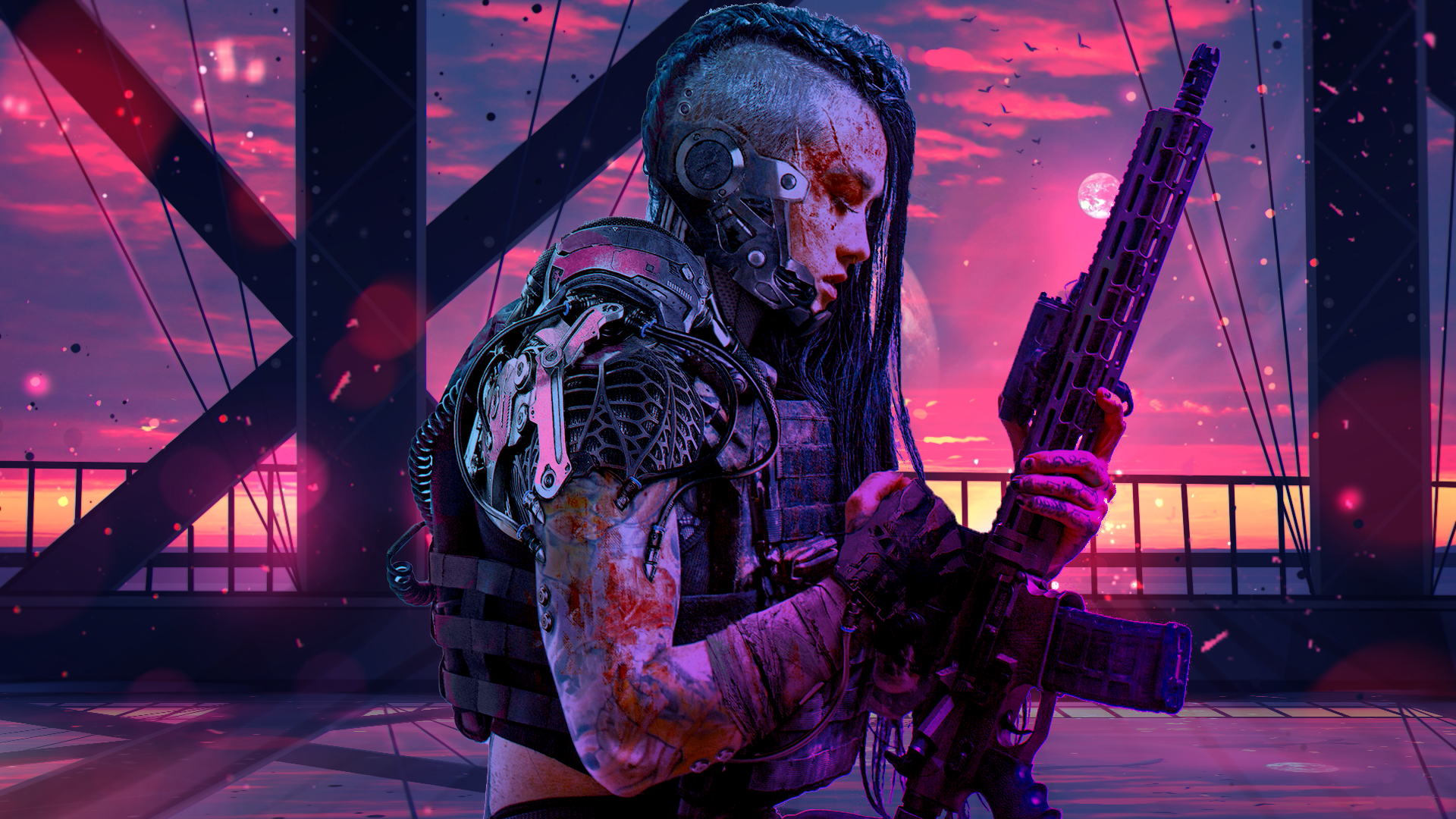 1920x1080 synthwave wallpaper
