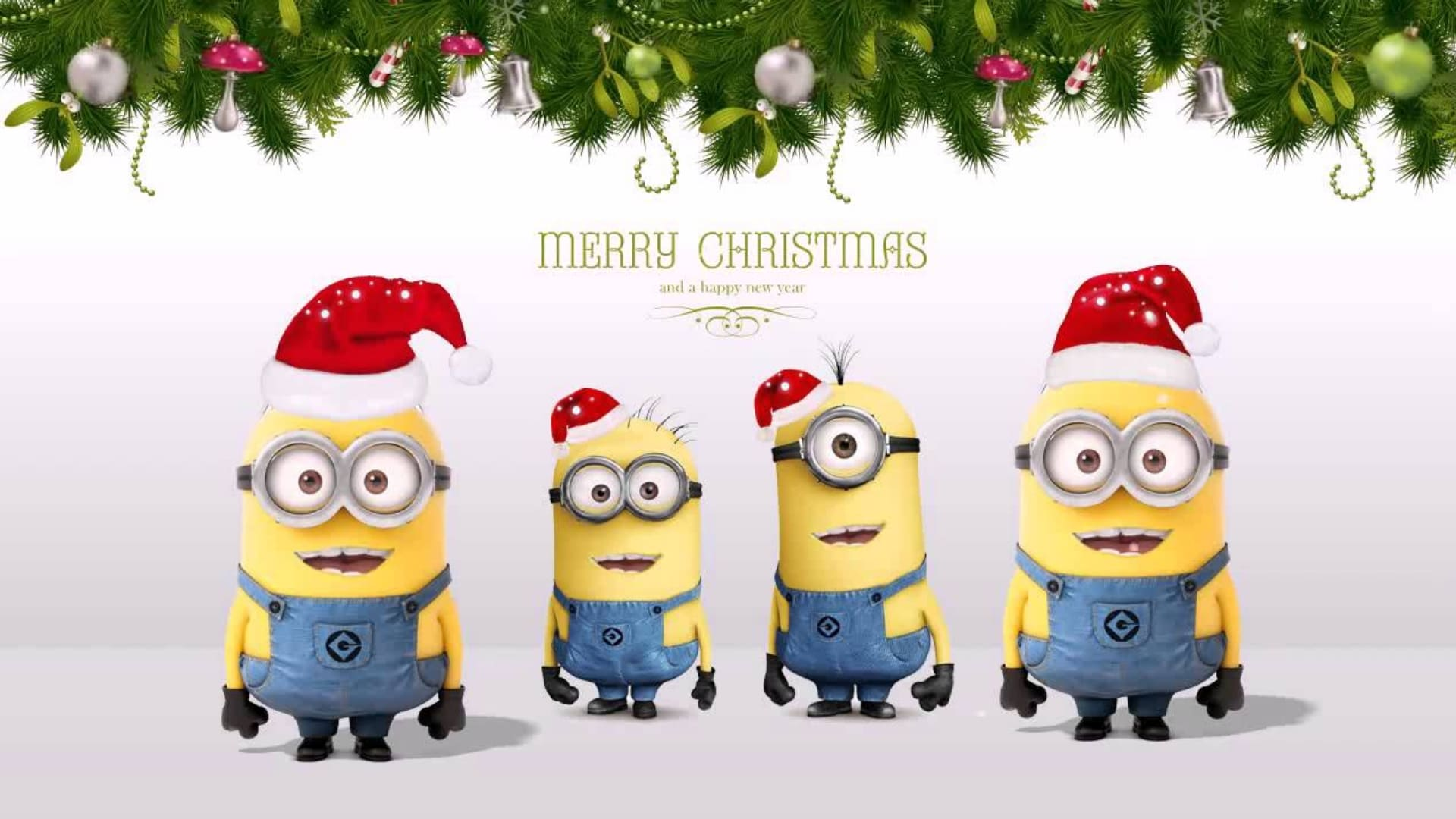 Minions christmas picture