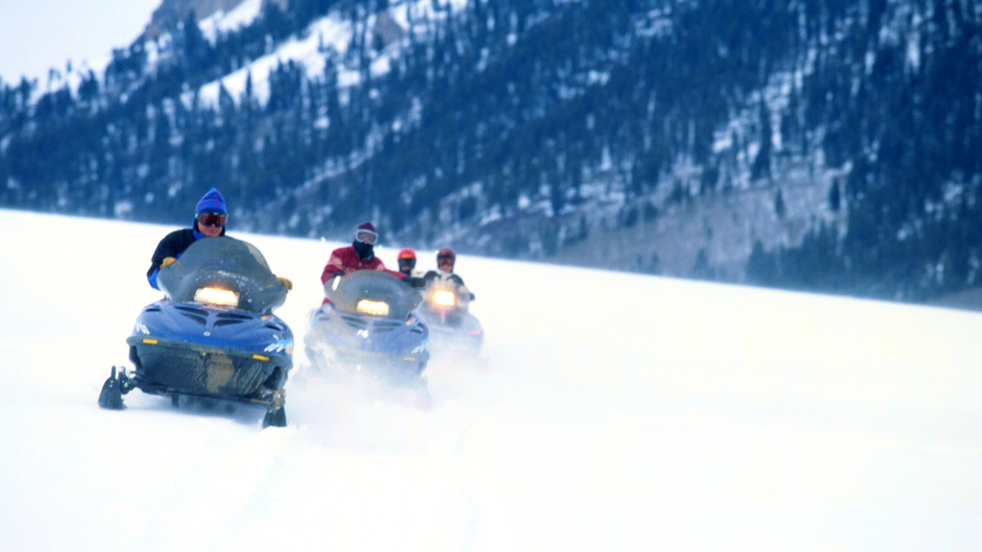 Snowmobile background