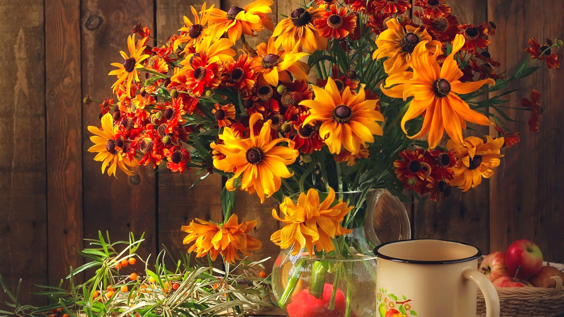 Fall flowers wallpapers