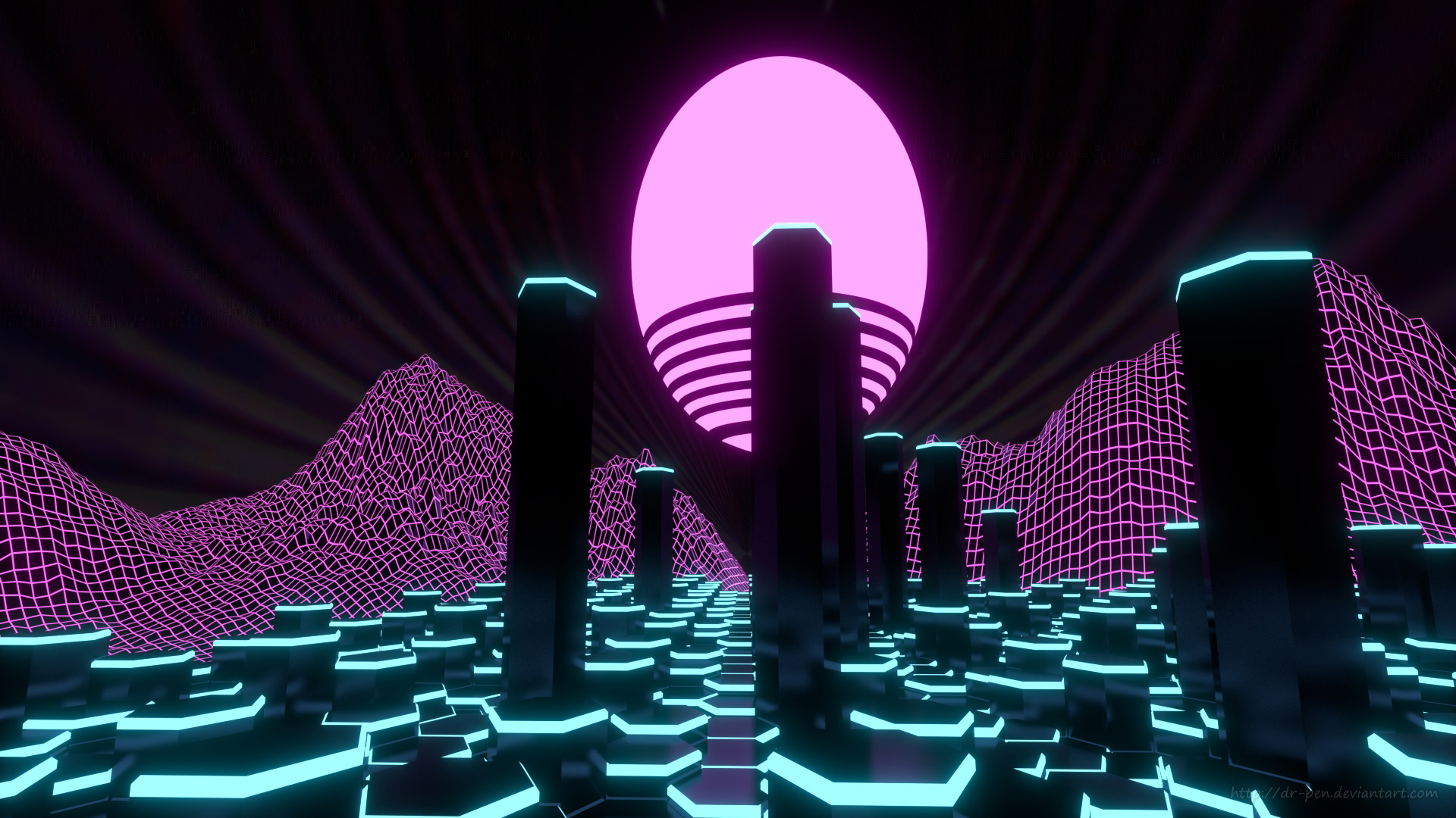 synthwave wallpaper 1920x1080