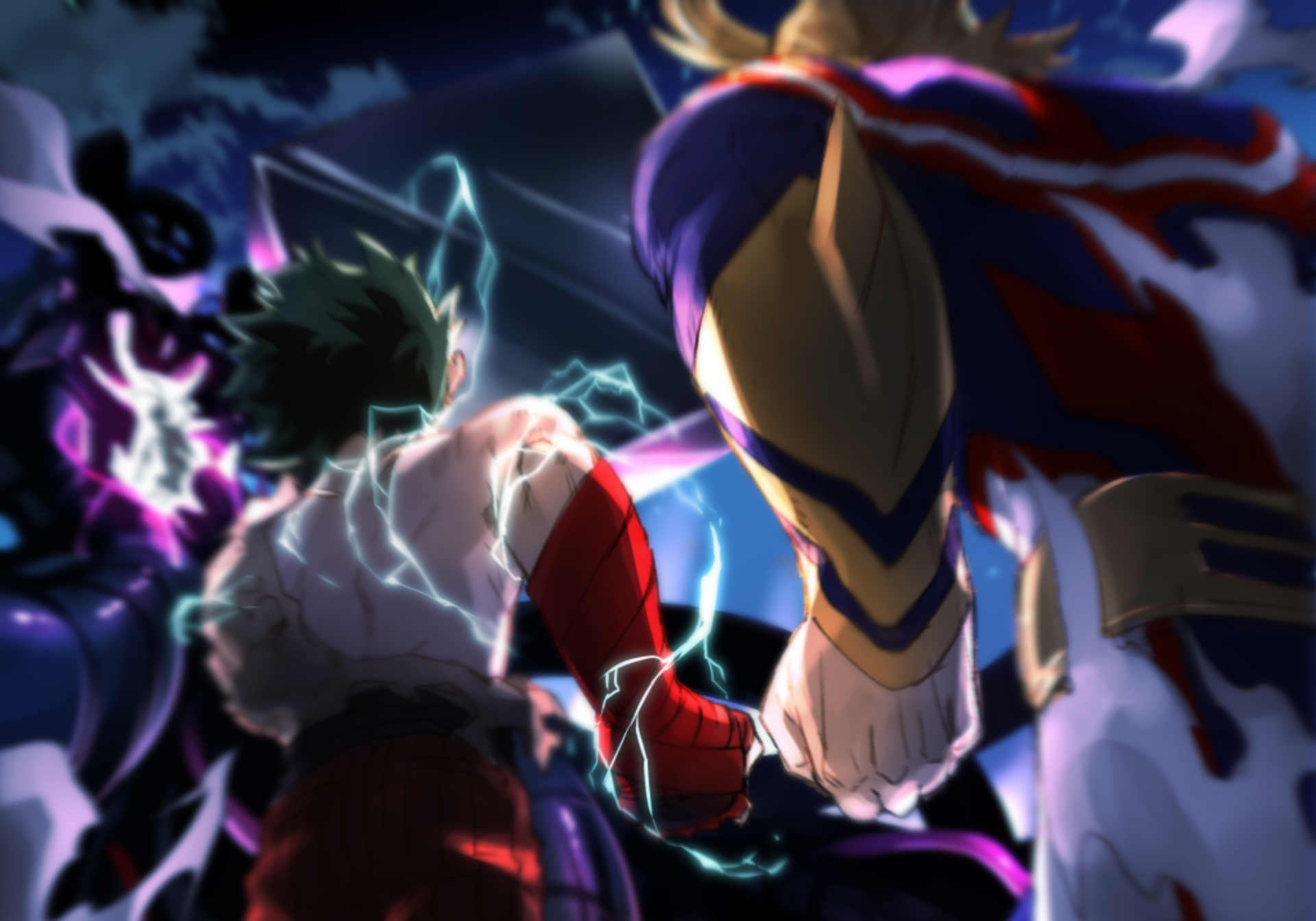 deku and all might wallpaper