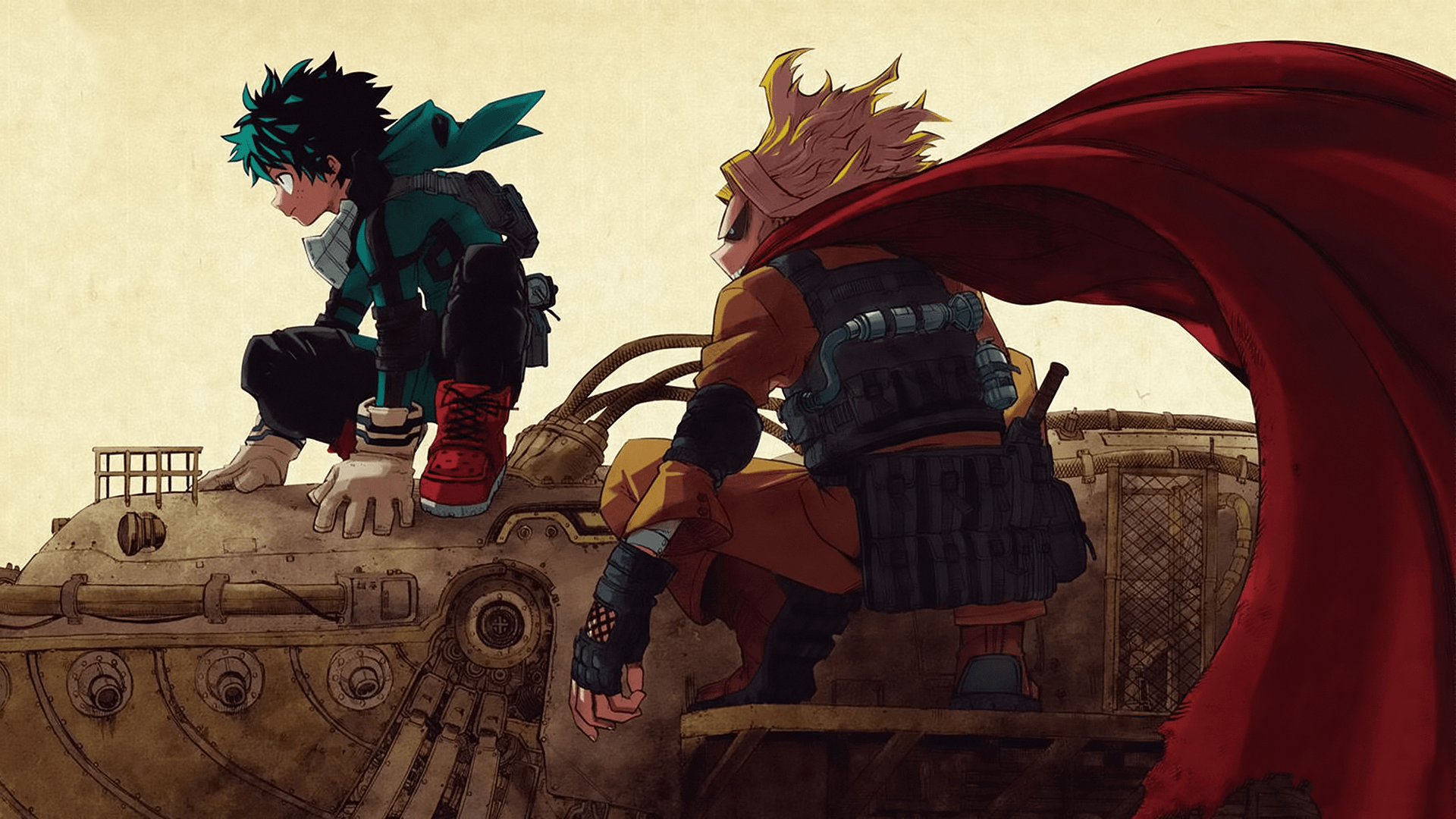all might and deku wallpaper