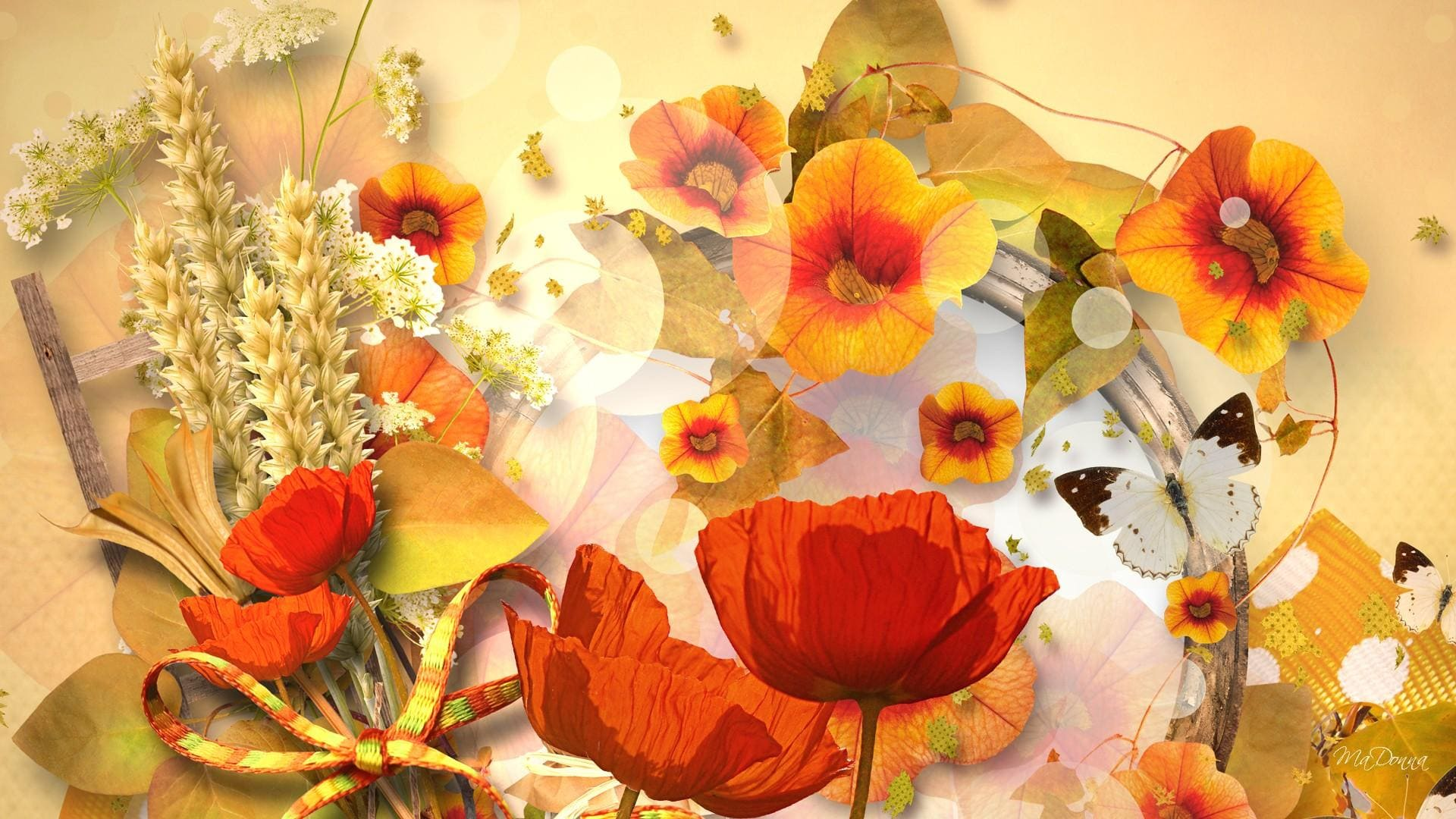 Fall floral backgrounds